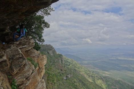 Blick von der Hochebene Lushoto in die Maasai-Ebene