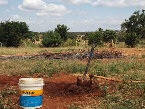 Der lehmige Boden dient als solide Bausubstanz