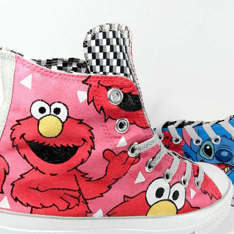 Lilo & Stitch Elmo Seasamstreet Custom shoes by bobsmade