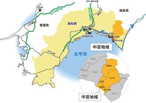 中芸ハーブフェスティバル2020 アクセスマップ