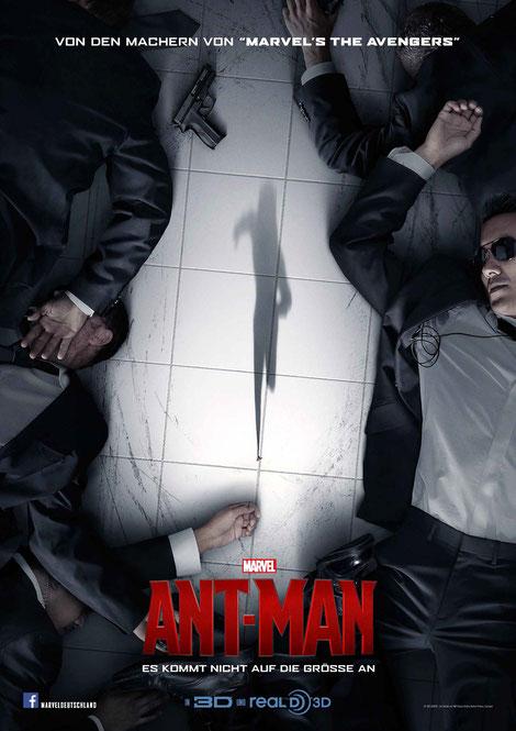Ant-Man im IMAX - Paul Rudd - Michael Douglas - Michael Pena - Disney Marvel - kulturmaterial - Plakat