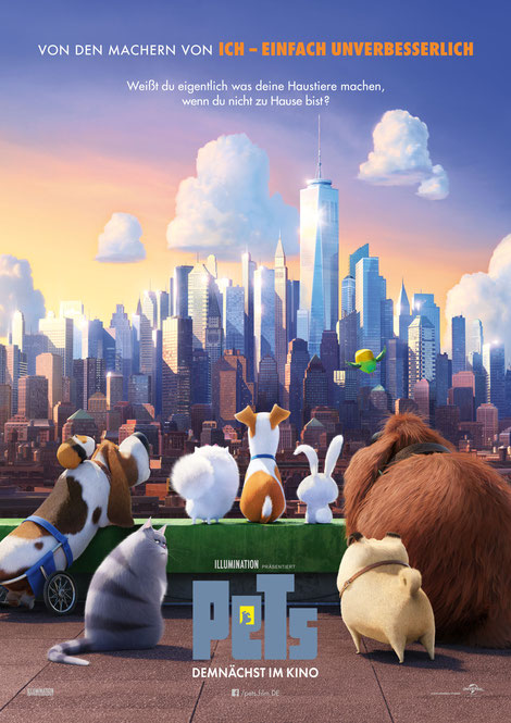 Pets - Illumination Entertainment - Universal - kulturmaterial - German Poster