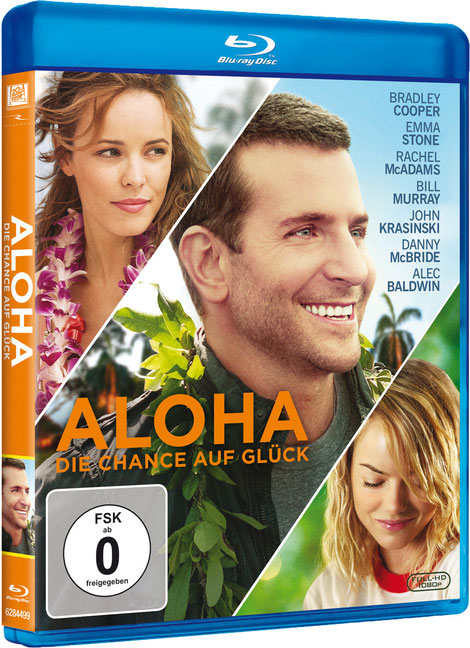 Aloha Chance auf Glück Blu-ray - Bradley Cooper - Emma Stone - Fox Home - kulturmaterial - Fan Artikel Gewinnspiel