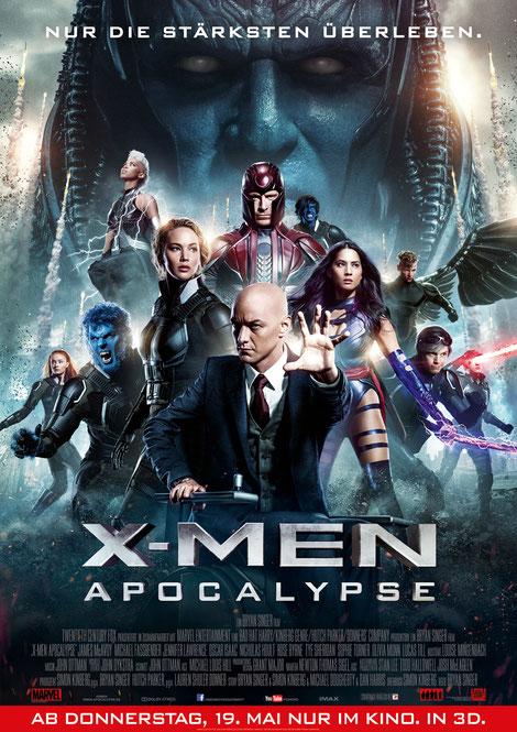 Bryan Singer - X-Men Apocalypse - 20th Century Fox - kulturmaterial - German Poster