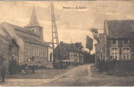 Oreye, devant l'église
