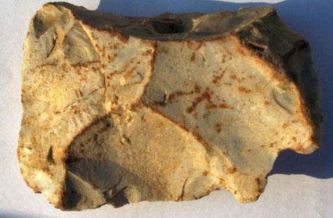 nucleus à pointe Levallois trouvé à Oreye