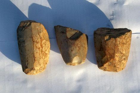 fragments de haches