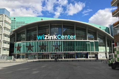 Die Basketball Arena WiZink Center von außen.