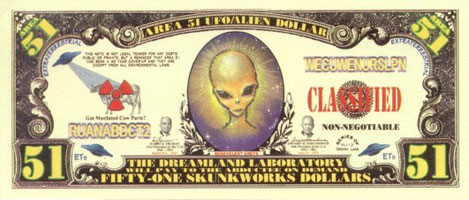 Front banconota Area 51 ( falso ) 2005