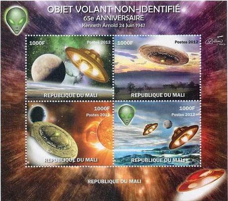 Serie di francobolli in 4 valori della Repubblica del Mali