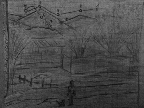 Schizzo dell'avvistamento UFO by Samantha