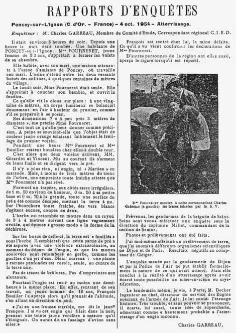 Rapporto d'inchiesta di Charles Garreau