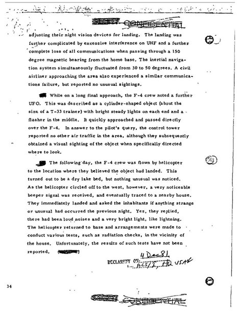 US Air Force files on the incident page 3