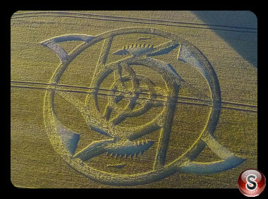 Crop circles Hackpen Hill - Wiltshire 2016