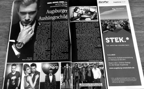 Model: Michael Bauer - Quelle: Augsburger Journal - Ausgabe: November 2014