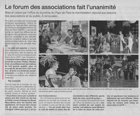 Ouest France - lundi 8 septembre 2014