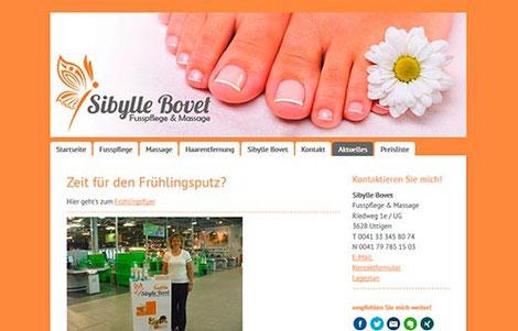 Sibylle Bovet Fusspflege und Massage, Uttigen
