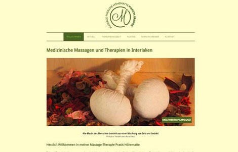 Massagetherapie Hoehematte Interlaken, Marion Greiner