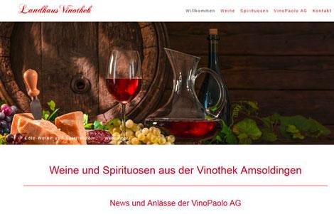 Vinopaolo AG, Vinothek Amsoldingen