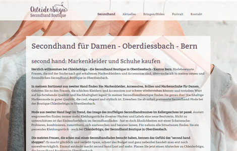 Untertitel:  Chleiderbügu, Secondhandboutique für Damen, Oberdiessbach