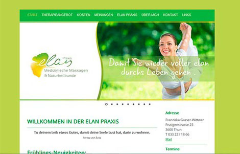 elan Praxis Thun, medizinische Massage und Naturheilkunde
