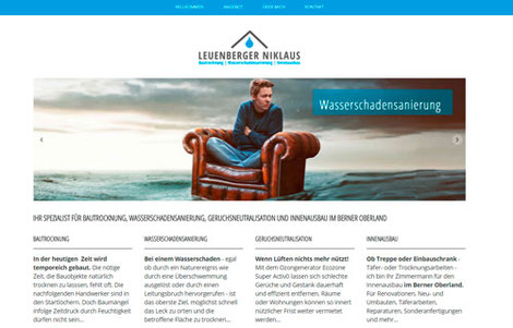 Niklaus Leuenberger Bautrocknung, Wasserschadensanierung, Innenausbau Berner Oberland