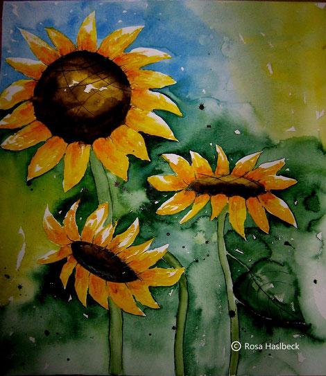 aquarell, sonnenblumenaquarell, sonnenblumen,sonne,blumenbild,blumen , bild, handgemalt, gelb, kunst, bild, wanddekoration, dekoration, wandbild, art, malen, malerei, aquarell kaufen, kunst kaufen, bild kaufen,