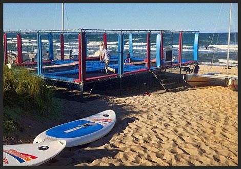 Trampolin Timmendorfer Strand, Surfschule&SUP Schule Timmendorf