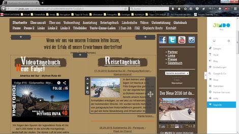 Webseite erstellen für eure Motorrad Reise - Einsteiger