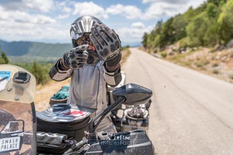 Motorrad Sommerhandschuhe Difi Striker Aerotex im Langzeit-Extrem-Einsatz