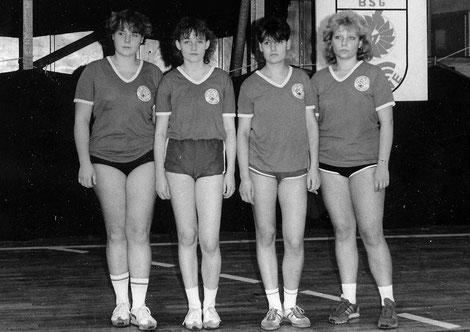 Die erfolgreiche Gunsleber Damenmannschaft: Anja Slotta, Anke Thomas,  Daniela Buchholz und Jeanette Rahn (v.li.)