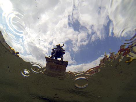 La fontaine du Sénat de République Tchèque apparaît ici dans cette vision artistique du déluge de Valera