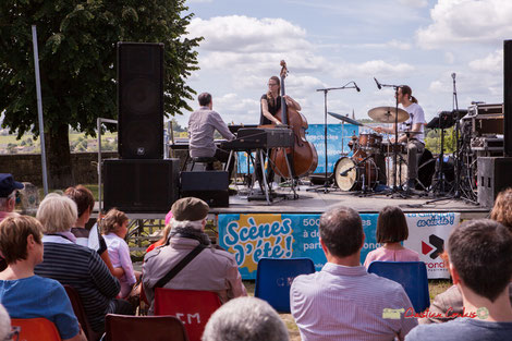 Loïc Cavadore Trio: Loïc Cavadore, Nolwenn Leizour, Simon Pourbaix. Festival JAZZ360 2019, Camblanes-et-Meynac, samedi 8 juin 2019