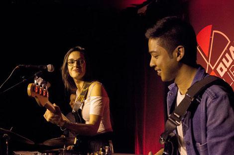 Laure Sanchez trio, avec Johary Rakotondramasy, concert au Quartier Libre à Bordeaux