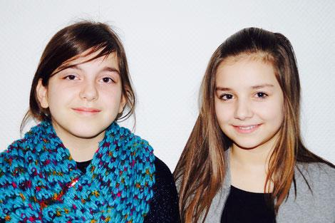 Jahrgangssprecherinnen Klasse 6: (1.) Nora (rechts) und (2.) Leonarda (links)