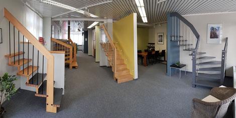 Bucher Treppen - moderne Treppenherstellung live erleben. Im modernisierten BUCHER Treppenstudio in Beilstein
