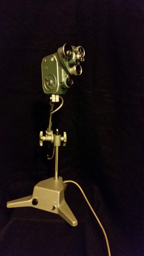 Sielmann david bergmann hasimir filmkamera Lampe art modern industrial ateampunk dieselpunk