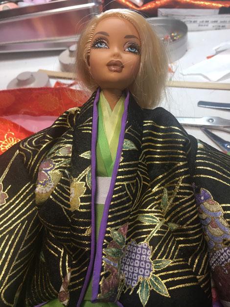 バービー 十二単,Barbie Ohinasama,着せ替え お雛様