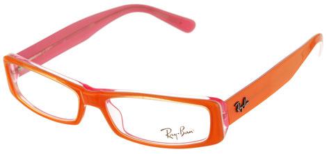 Occhiali da vista Ray-Ban donna 5094. Colore: 2215 rosso e arancio. Calibro: 51-14. Prezzo € 108,90. Spedizione gratis. Forma: rettangolare. Materiale: acetato.