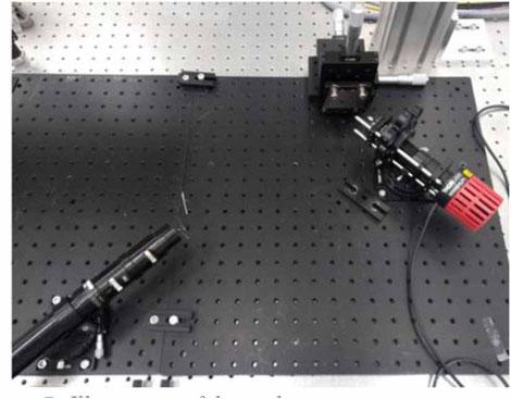 Vorläufiger Scatterometrie-Aufbau