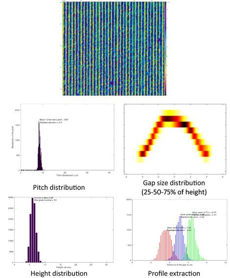 Extraktion der geometrischen Parameter und des typischen Profils aus den konfokalen Bildern