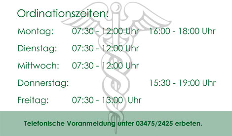 Ordinationszeiten