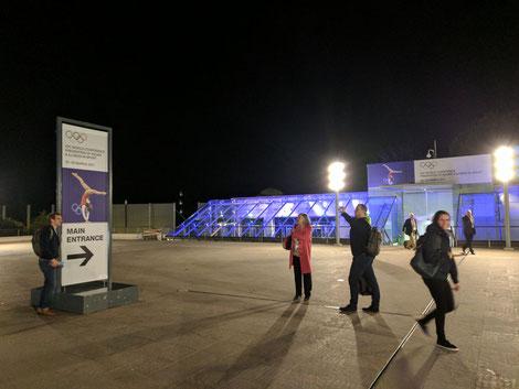 Grimaldi Forum Monaco am Abend nach der Eröffnungsfeier zu IOCprev2017
