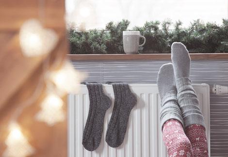 Bild: warme Füße, Strumpf-Klaus