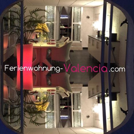 Blick in den Wintergarten der Ferienwohnung Valencia