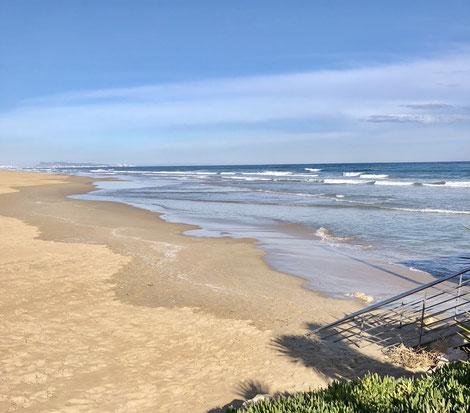 Strand von Gandia, Januar 2018, Foto: Birgitta