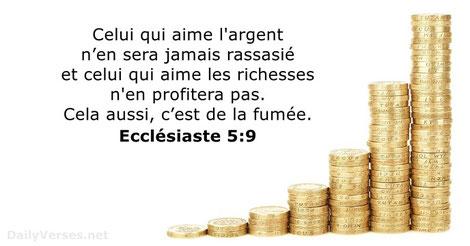 Pour les fidèles chrétiens la vraie richesse est la richesse spirituelle qui surpasse de loin toutes les possessions matérielles qui ne seront que temporaires dans ce monde destiné à disparaître. Nos biens matériels pourraient même être un piège !
