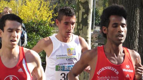 Ejob Solomun (rechts) 1:06:24 Std.