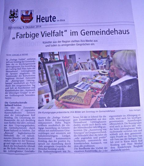 Vernissage 2014 Kunstgruppe Lüttringhausen