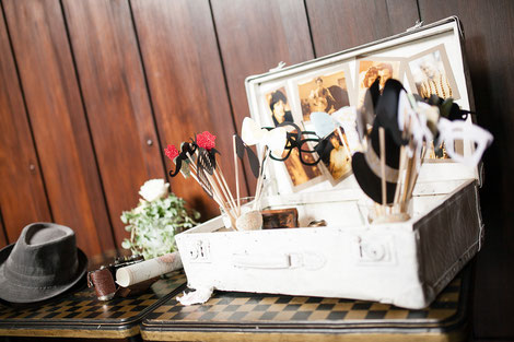 photo booth accessories displayed at a weddings in berlin